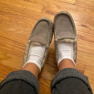 Light grey UGG slippers